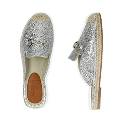 Slippers argento glitter, Chaussures, 154951159GLARGE036, 003 preview