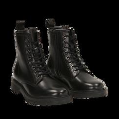 Amphibiens noirs en cuir, Primadonna, 167710802PENERO035, 002a