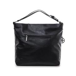 Hobo bag nera in eco-pelle intrecciata, Borse, 145700319EINEROUNI, 003 preview