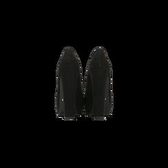 Décolleté nere scamosciate con plateau, tacco 13,5 cm, Primadonna, 122103011MFNERO, 003 preview