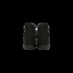Sneakers nere con zip e chiusura a strappo, Scarpe, 129313816MFNERO, 003 preview