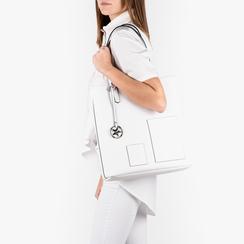 Shopper bianca in eco-pelle, Primadonna, 153782784EPBIANUNI, 002 preview