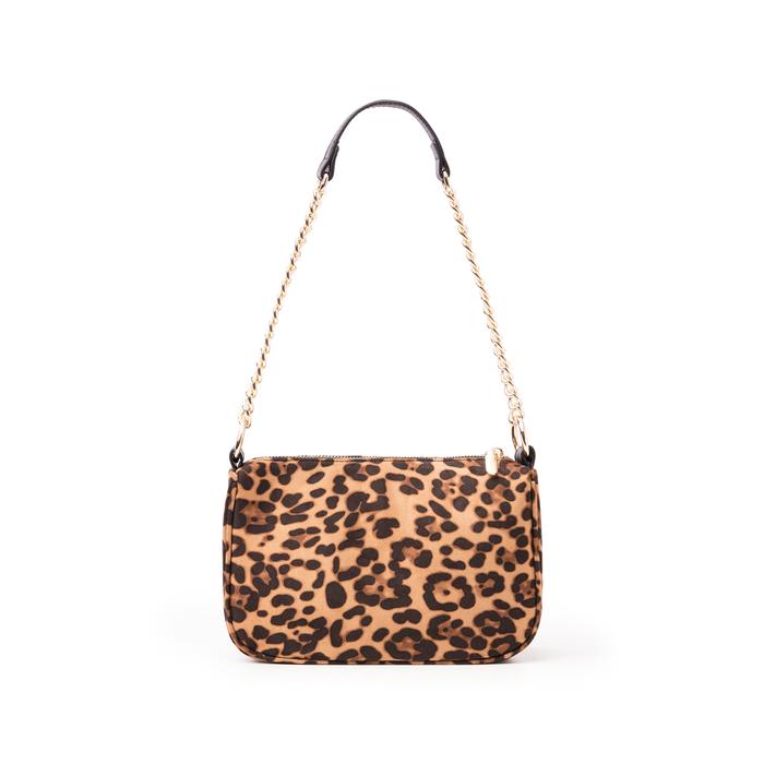 Borsa a tracolla leopard in microfibra, Borse, 145127201MFLEMAUNI