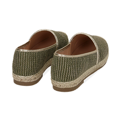Espadrillas verdi in rafia, Chaussures, 154902099RFVERD036, 004 preview