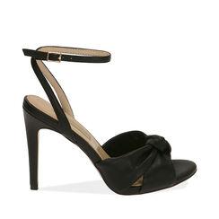 Sandali neri, tacco 10 cm , Primadonna, 172174216EPNERO036, 001a