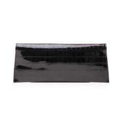 Pochette nera in vernice effetto cocco, Borse, 145122509VENEROUNI, 003 preview