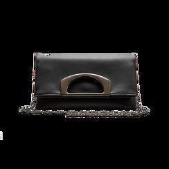 Pochette nera in ecopelle, Borse, 123306750EPNEROUNI, 004 preview