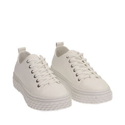 Baskets blanches, CHAUSSURES, 172822110EPBIAN035, 002a