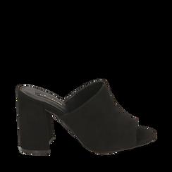 CALZATURA CIABATTE MICROFIBRA NERO, Zapatos, 154998161MFNERO036, 001a