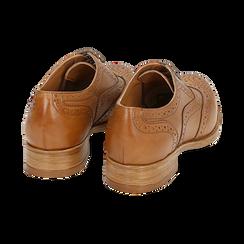 Oxford de piel en color cuero , Zapatos, 159908418PECUOI036, 004 preview