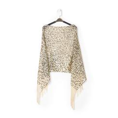 Poncho leopard marrone in tessuto laminato, Abbigliamento, 13B445077TSLEMAUNI, 001 preview