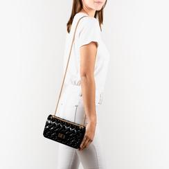 Mini-bag matelassé nera in pvc, Borse, 15C809988PVNEROUNI, 002 preview
