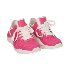 Dad shoes en tejido tecnico color fuxia, Zapatos, 15F609059TSFUCS036, 002 preview