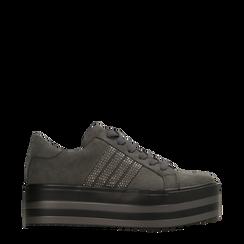 Sneakers grigie suola platform multistrato, Primadonna, 122818575MFGRIG035, 001a