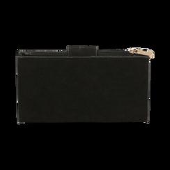 Portefeuille noir en microfibre , Sacs, 155122158MFNEROUNI, 004 preview