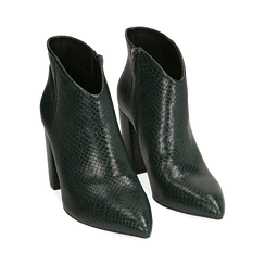 Ankle boots verdi stampa vipera, tacco 9 cm , Primadonna, 164916101EVVERD035, 002 preview