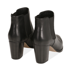 Chelsea boots neri in pelle di vitello, tacco 7 cm, Primadonna, 15J492446VINERO036, 004 preview