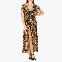 Poncho leopard in tessuto, Primadonna, 150400013TSLEOPUNI, 001a