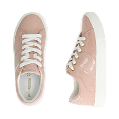 Sneakers nude in microfibra, Scarpe, 152619072MFNUDE035, 003 preview