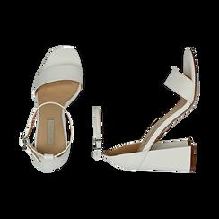 Sandali bianchi in tejus, Scarpe, 154821432EJBIAN039, 003 preview