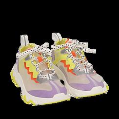 Dad shoes lilla in eco-pelle, Primadonna, 159319161EPLILL035, 002a