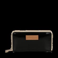 Portafoglio nero in pvc, Borse, 133732328PVNEROUNI, 001a