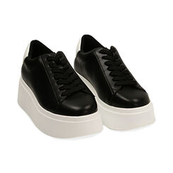 Sneakers nere, platform 6,5 cm, Primadonna, 177505101EPNERO036, 002 preview