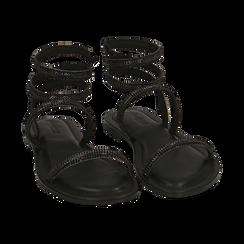 CALZATURA FLAT MICROFIBRA PIETRE NERO, Zapatos, 154928863MPNERO036, 002 preview