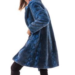 Eco-Pelliccia blu, Abbigliamento, 14B443001FUBLUE3XL, 002a