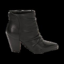 Camperos neri in pelle, tacco 8,5 cm , Scarpe, 14D600911PENERO036, 001 preview