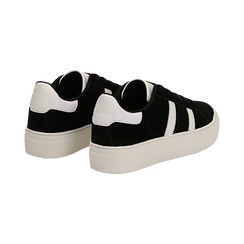 Sneakers nere in microfibra stile vintage Seventies, Scarpe, 130101157MFNERO036, 004 preview