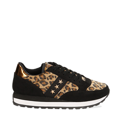 Sneakers leopard marroni in eco-cavallino , Scarpe, 142619079CVMALE036, 001a