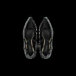 Décolleté nere kitten heels in vernice, tacco 3 cm, Scarpe, 124951721VENERO, 004 preview