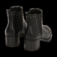 Chelsea boots neri con borchie, tacco 5 cm , Primadonna, 160621232EPNERO036, 004 preview
