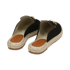 Slippers nere in microfibra, Chaussures, 154951159MFNERO, 004 preview