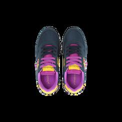 Sneakers blu color block, Scarpe, 122618834MFBLUE, 004 preview