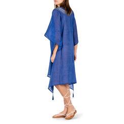 Caftán de tela azul, Primadonna, 150500006TSBLUEUNI, 002a