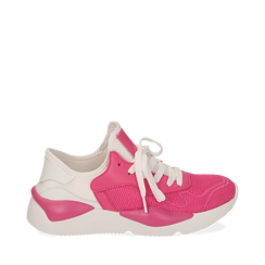 Dad shoes en tejido tecnico color fuxia, Zapatos, 15F609059TSFUCS035, 001a
