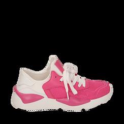 Dad shoes fuxia in tessuto tecnico , Sneakers, 15F609059TSFUCS035, 001a