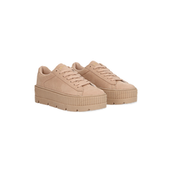 Sneakers rosa nude con suola extra platform zigrinata, Primadonna, 122618776MFNUDE, 002 preview