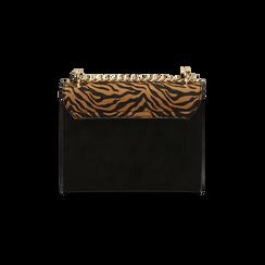 Borsa piccola zebrata in microfibra, IDEE REGALO, 165122371MFZEBRUNI, 003 preview