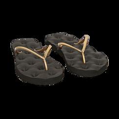 Ciabatte infradito oro in pvc, Zapatos, 15J370785PVOROG036, 002 preview