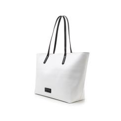 Maxi-bag bianca in eco-pelle con manici neri, Borse, 133783134EPBIANUNI, 004 preview