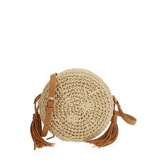 Bolso coñac pequeño de rafia, Primadonna, 175123102RFCOGNUNI, 001a