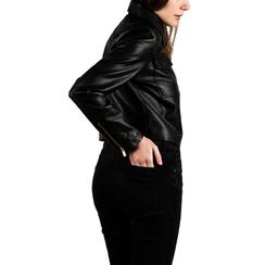 Chaqueta corta en eco-piel color negro, Primadonna, 156516138EPNEROL, 002 preview