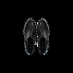 Tronchetti neri in vera pelle con tacco 5 cm, Primadonna, 127714166PENERO035, 004 preview