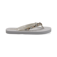 Zeppe infradito bianche in pvc, Primadonna, 13C119508PVBIAN035, 001 preview