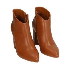 Ankle boots cognac, tacco 9,5 cm , Primadonna, 174916101EPCOGN037, 002a