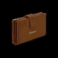 Portafogli marrone in microfibra con 25 vani , Borse, 133322158MFMARRUNI, 002 preview