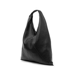 Hobo bag nera in eco-pelle, Borse, 141918028EPNEROUNI, 004 preview